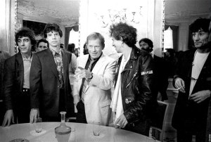 The Rolling Stones and former president of Czechoslovakia Václav Havel at Prague's Castle. Band first visited former country in 1990.